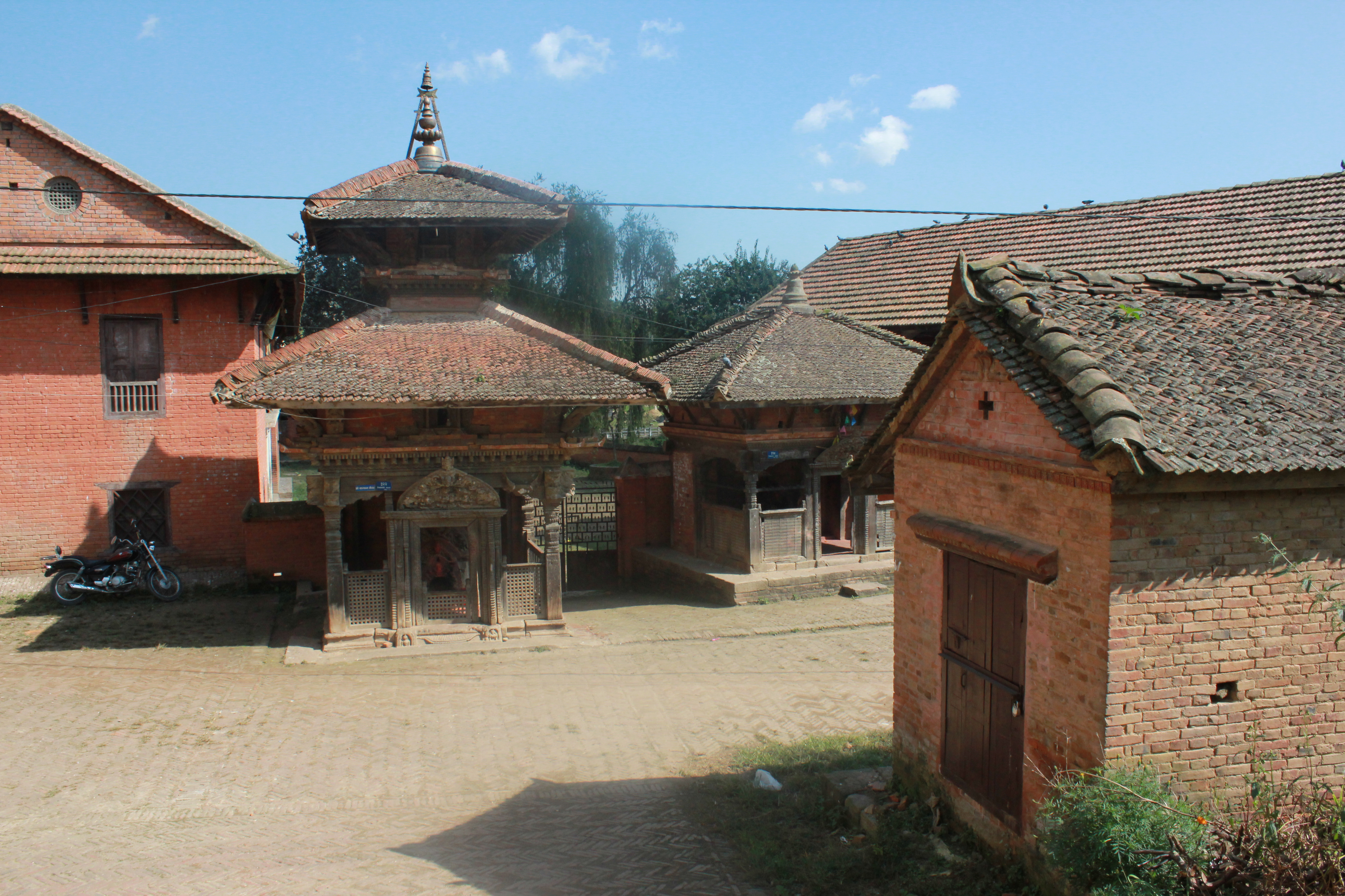 Co-existing private and religious space, a typical example of Newari town.